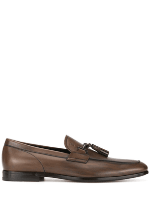 Tod's buckle-detailed loafers - Brown