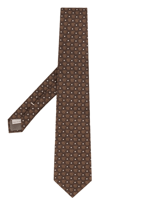 Canali logo tie - Brown