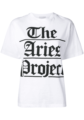 Aries The Aries Project print T-shirt - White