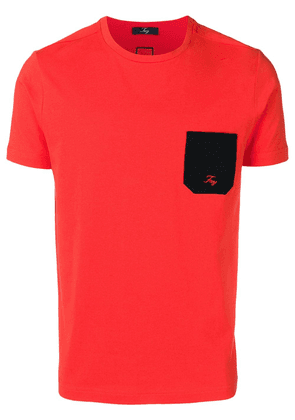 Fay chest pocket T-shirt - Red