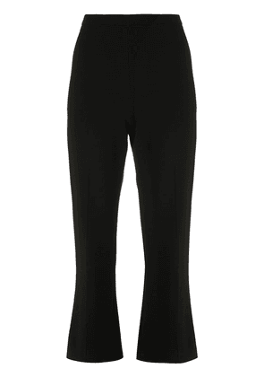 Christian Siriano cropped flare trousers - Black