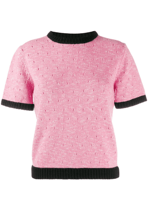 Cashmere In Love short sleeved knitted top - Pink