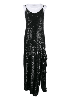 P.A.R.O.S.H. sequinned maxi slip dress - Black