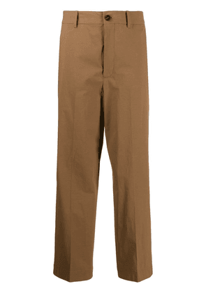 Erika Cavallini straight-leg trousers - Brown