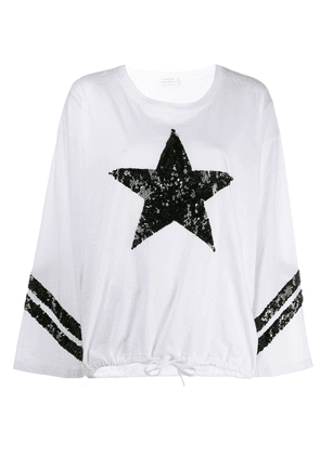 P.A.R.O.S.H. sequin star sweatshirt - White