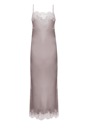 Carine Gilson lace insert long gown - Purple