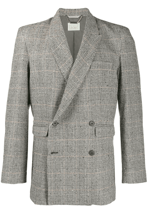 Aries checked suit jacket - Black