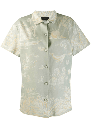 Alanui short-sleeved shirt - Blue