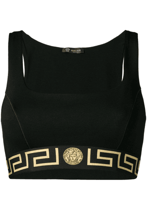 Versace Greek Key print sports bra - Black