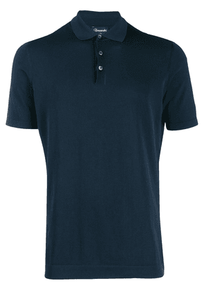 Drumohr knitted polo shirt - Blue