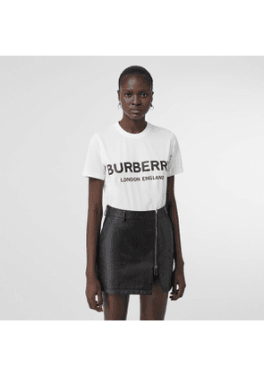 Burberry Logo Print Cotton T-shirt, Size: M, White