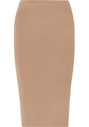 Joseph - Stretch Silk-blend Midi Skirt - Camel