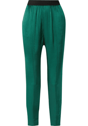 By Malene Birger - Ietos Tapered Satin Pants - Green
