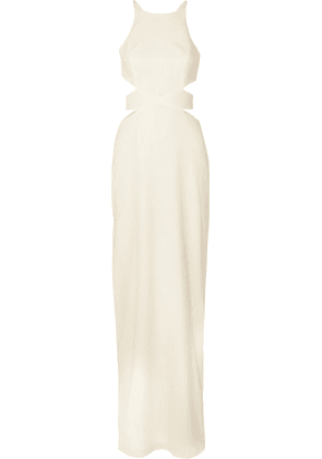 Halston Heritage - Cutout Crepe Gown - Off-white
