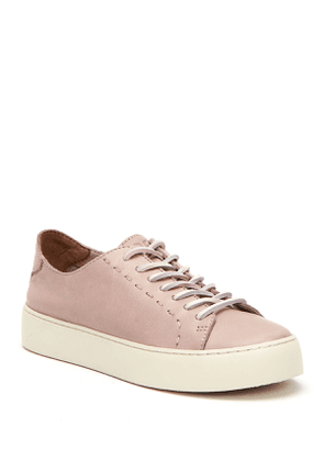 Lena Leather Lace-Up Sneakers
