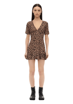 Amos Leopard Print Rayon Dress