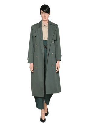 Double Breasted Cotton Trench Coat