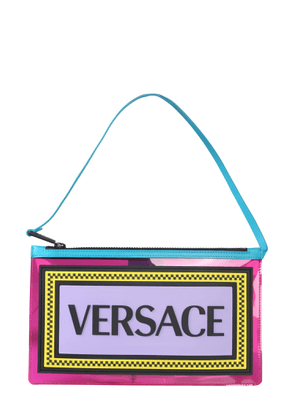 versace clutch with logo