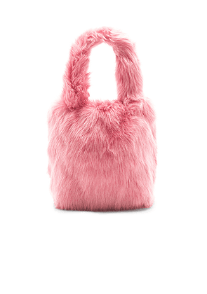 Charlotte Simone Pop Faux Fur Tote in Pink.