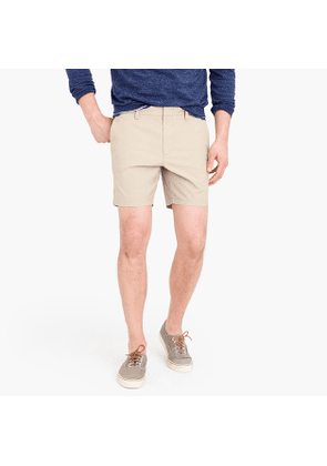 7' stretch tailored chino short with back elastic waist