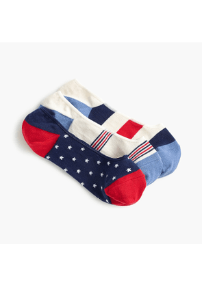 Mixed no-show socks in stars and stripes