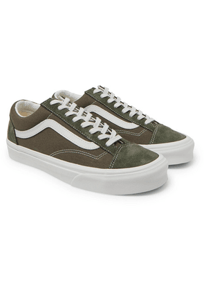 Vans - Ua Style 36 Leather-trimmed Canvas And Suede Sneakers - Green