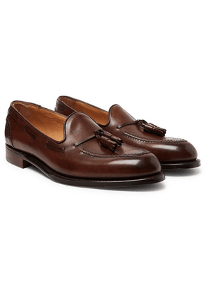 Cheaney - Harry Ii Burnished-leather Tasselled Loafers - Dark brown