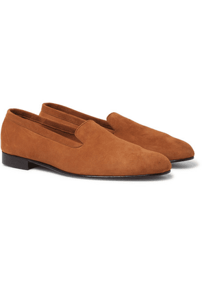 George Cleverley - Hedsor Suede Loafers - Tan