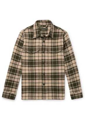 Filson - Deer Island Checked Brushed Cotton-twill Overshirt - Green