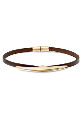 Shaun Leane - Arc Gold-plated And Leather Bracelet - Gold
