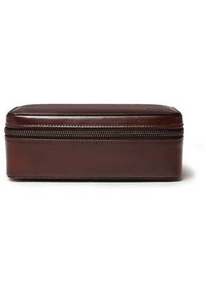 Berluti - Leather Watch Case - Brown