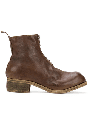Guidi front zip boots - Brown
