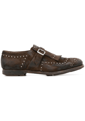 Church's Shanghai studded monk shoes - Brown