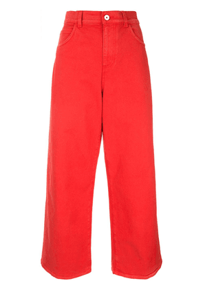 Marni cropped palazzo trousers - Red