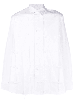 Comme Des Garçons Homme Plus embroidered long-sleeve shirt - White