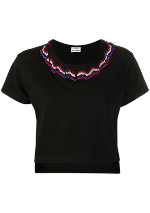 P.A.R.O.S.H. beaded fringed top - Black