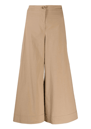 M Missoni cropped wide-leg trousers - Brown