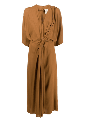 Erika Cavallini knotted maxi dress - Brown
