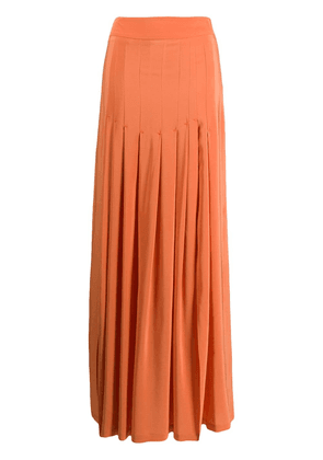 Erika Cavallini pleated maxi skirt - Orange