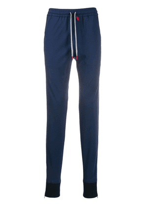 Kiton fitted sweatpants - Blue