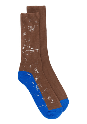 Oakley By Samuel Ross ribbed socks - Brown