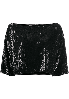 P.A.R.O.S.H. sequinned top - Black