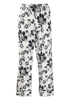 Alexa Chung floral print cropped trousers - White