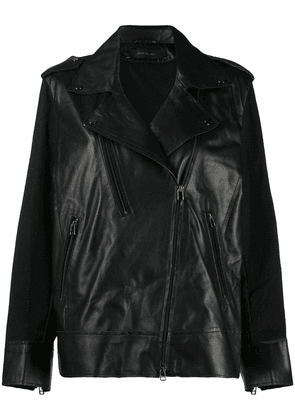 Federica Tosi relaxed-fit biker jacket - Black