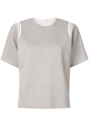 Anteprima metallic knitted top - Silver