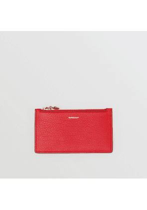 Burberry Leather Zip Card Case, Red