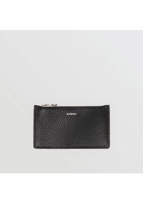 Burberry Leather Zip Card Case, Black