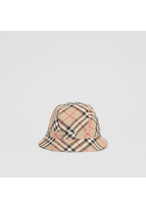 Burberry Childrens Reversible Vintage Check Bucket Hat, Beige