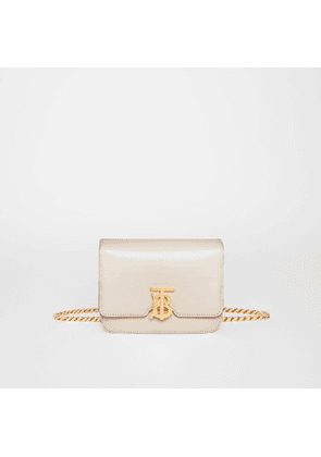 Burberry Belted Leather TB Bag, Yellow