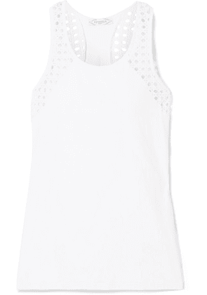 L'Etoile Sport - Pointelle-knit And Stretch-jersey Tank - White